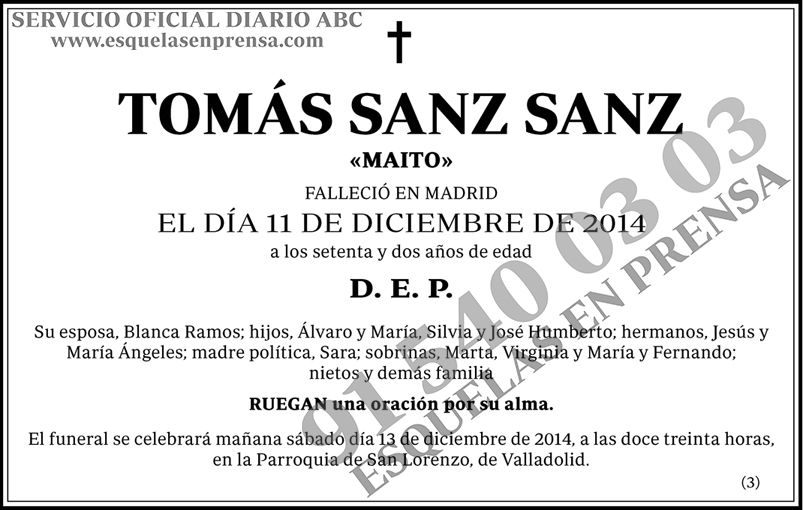 Tomás Sanz Sanz